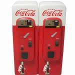 Ceramic Coca-Cola Vending Machine Salt And Pepper Shakers
