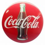 Premium Coca-Cola 3-D Resin Button Sign