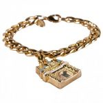 14Kt Gold Plated Magic Castle Chunky Charm Bracelet from Disney Couture