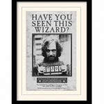 Harry Potter Sirius Black Wanted Poster Framed Print 30cm x 40cm