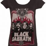 Women's Charcoal Black Sabbath T-Shirt from Amplified