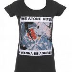 Women's Charcoal Stone Roses Wanna Be Adored T-Shirt from Amplified