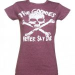 Women's Heather Maroon Goonies Never Say Die T-Shirt
