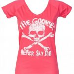 Women's Pink Goonies Never Say Die Classic V-Neck T-Shirt