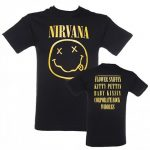 Men's Black Nirvana Smiley T-Shirt