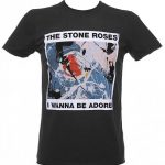 Men's Charcoal Stone Roses Wanna Be Adored T-Shirt from Amplified