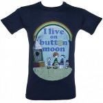 Men's I Live On Button Moon T-Shirt