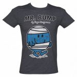 Men's Heather Navy Mr Bump Mr Men T-Shirt