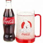 Coca-Cola Polar Bear Christmas Chiller Mug And Filled Contour Bottle