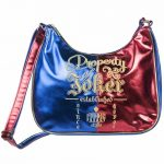 DC Comics Harley Quinn Property Of The Joker Metallic Cross Body Bag