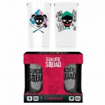 DC Comics Suicide Squad Joker and Harley Quinn Set Of 2 Glasses