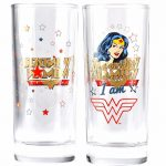DC Comics Wonder Woman Boxed Set Of 2 Glasses
