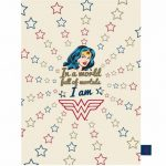 DC Comics Wonder Woman Stars Tea Towel