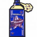 Glitter Hairspray Enamel Pin from Punky Pins