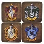 Harry Potter Crests Set of 4 Coasters
