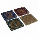 Harry Potter Hogwarts Crest Metallic Coasters