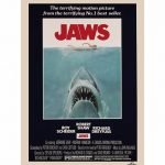 Jaws Movie Poster 11.7 x 16.5″ Art Print""