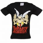 Kids Black Asterix Grimace T-Shirt