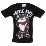 Kids Black Looney Tunes Taz Trouble Maker T-Shirt