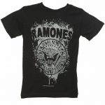 Kids Black Ramones Faded Logo T-Shirt from Amplified Kids