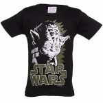 Kids Black Star Wars Yoda Master Of The Jedi T-Shirt