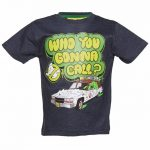 Kids Blue Marl Ghostbusters Who You Gonna Call T-Shirt from Fabric Flavours