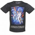 Kids Charcoal Star Wars A New Hope Anniversary T-Shirt from Fabric Flavours