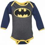 Kids DC Comics Batman Logo Babygrow from Fabric Flavours
