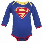 Kids DC Comics Superman Logo Babygrow from Fabric Flavours