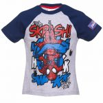 Kids Grey Marvel Comics Spider-Man Skrash Ringer T-Shirt