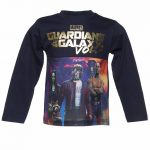 Kids Navy Marvel Comics Guardians Of The Galaxy Vol. 2 Long Sleeved T-Shirt from Fabric Flavours