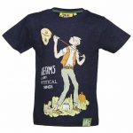 Kids Navy Roald Dahl BFG Dreams T-Shirt from Fabric Flavours