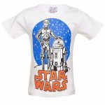 Kids Off White Star Wars C-3PO And R2-D2 Vintage T-Shirt
