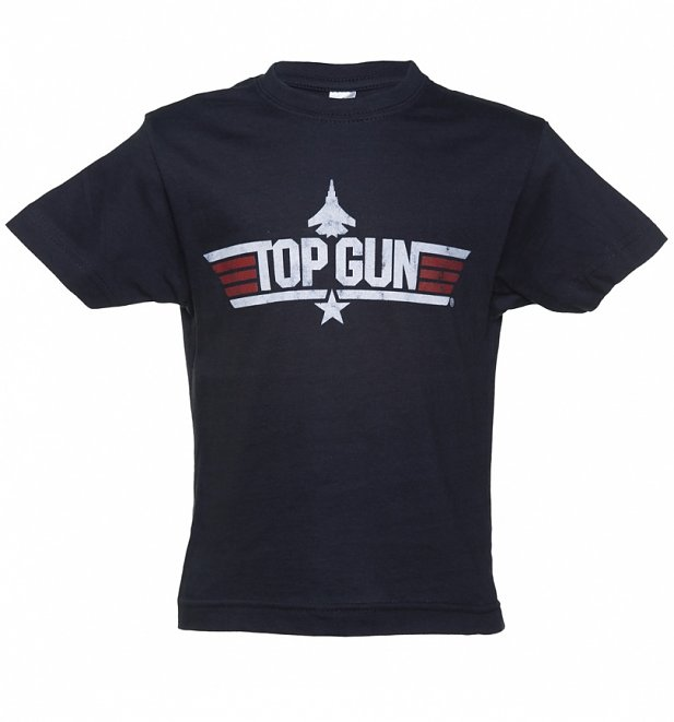 59fee51fd Enrol your kids into the Top Gun academy with this awesome Little Maverick  tee! With the classic Top Gun Logo proudly emblazoned across the front and  Little ...