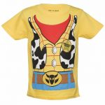 Kids Yellow Disney Pixar Toy Story Woody Costume T-Shirt