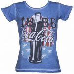 Women's Coca-Cola US Flag Denim T-Shirt