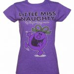 Women's Purple Little Miss Naughty T-Shirt