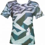 Women's Disney Alice In Wonderland Lost In The Hood Maze Print Oversized T-Shirt from Eleven Paris
