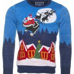 Light Up Sparkly Knitted Sleigh Ride Christmas Jumper from Cheesy Christmas Jumpers