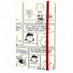 Limited Edition Peanuts Comic Strip White Hardcover Ruled Notebook from Moleskine