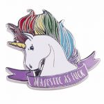 Majestic As F*** Unicorn Enamel Pin from Punky Pins