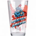 Marvel Comics Captain America Large Boxed Glass