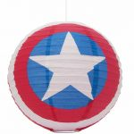 Marvel Comics Captain America Shield Paper Lampshade