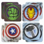 Marvel Comics Set Of 8 3D Lenticular Coasters