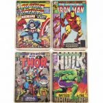 Marvel Comics Vintage Covers Set Of 4 Coasters