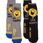 Men's 2pk Mr Happy Socks