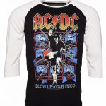Men's AC/DC Blow Up Your Video Baseball T-Shirt