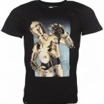 Men's Black C-3PO Hello Star Wars T-Shirt from Dedicated