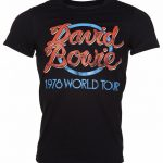 Men's Black David Bowie 1978 World Tour T-Shirt