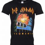 Men's Black Def Leppard Pyromania T-Shirt